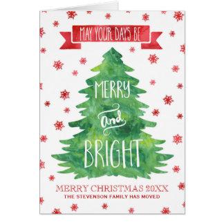 Cartes Arbre de Noël vert d'aquarelle nous avons déplacé