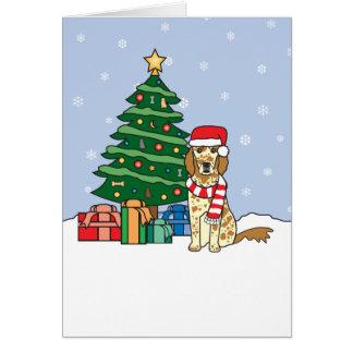 Cartes Arbre de poseur anglais et de Noël