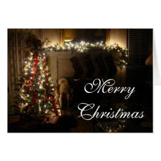 Cartes Arbre et cheminée de Joyeux Noël