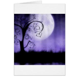 Cartes Arbre et lune gothiques