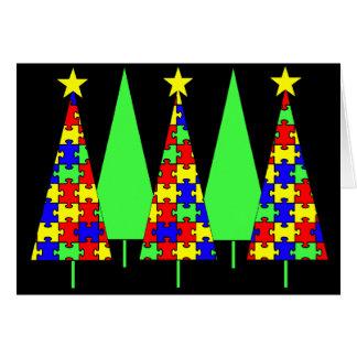 Cartes Arbres de Noël de puzzle - sensibilisation sur