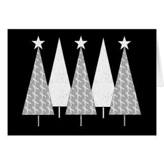 Cartes Arbres de Noël - ruban blanc