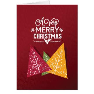 Cartes Arbres de Noël tricolores de Bourgogne