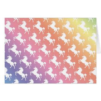 Cartes Arc-en-ciel de licorne