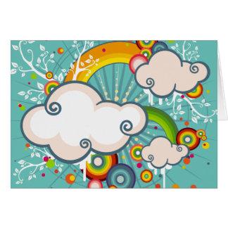 Cartes Arc-en-ciel et nuages