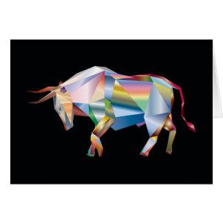 Cartes Arc-en-ciel géométrique de vache à ranch de