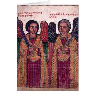 Cartes Archanges éthiopiens Michael et Noël de Gabriel