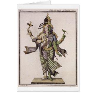 Cartes Ardhanarishvara, de 'voyage Indes aux. et d'une La