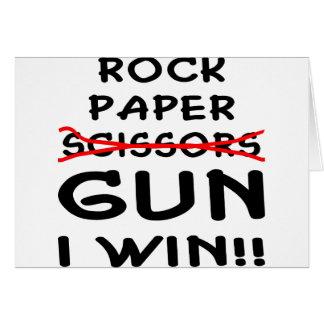 Cartes Arme à feu de papier de ciseaux de roche que je
