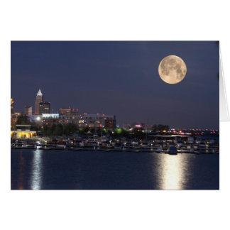 Cartes Arrangement superbe de lune à Cleveland, Ohio