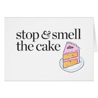 Cartes Arrêtez et sentez le gâteau