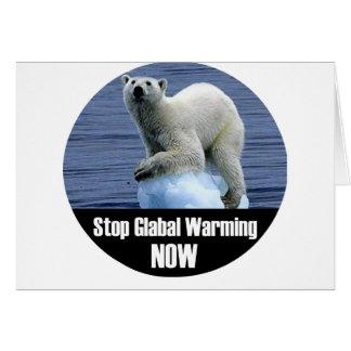 Cartes Arrêtez le réchauffement climatique maintenant