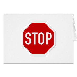 Cartes Arrêtez le signe