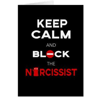 Cartes Arrêtez les Narcissists, narcissisme. Gardez le