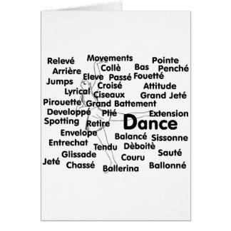 Cartes Arrière - plan du danseur classique 75 du noir