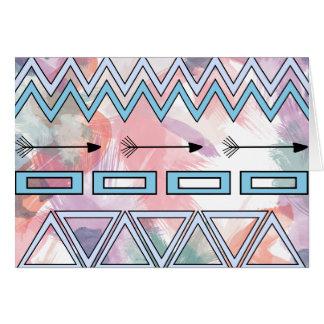 Cartes Arrière - plan géométrique aztèque tribal