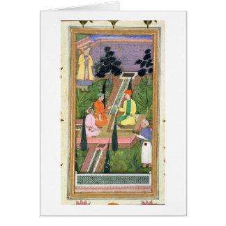 Cartes Arrosez les jardins, de l'album de Clive (gouache
