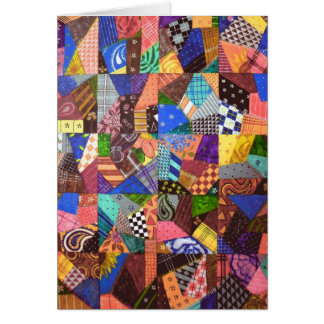 Cartes Art abstrait d'édredon de patchwork d'édredon fol