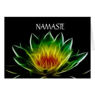Cartes Art abstrait intérieur de la lumière   Lotus