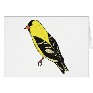 Cartes Art américain d'oiseau de chardonneret