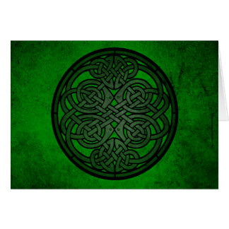 Cartes Art celtique vert de noeud