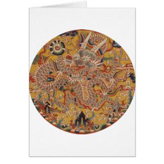 Cartes Art chinois asiatique impérial de dragon de Ming