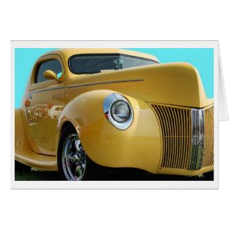 Cartes Art classique de voiture