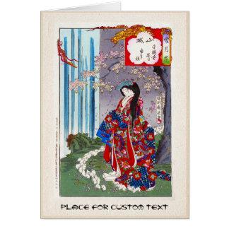 Cartes Art classique japonais oriental frais de dame de
