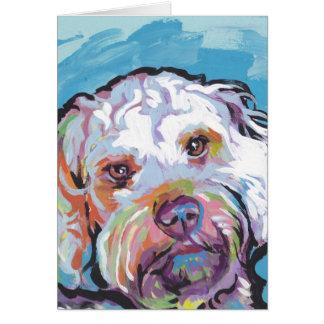Cartes Art coloré lumineux de chien de bruit de Cockapoo