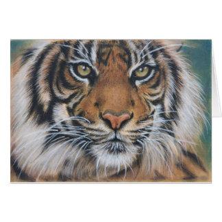 Cartes Art d'animal de faune de tigre