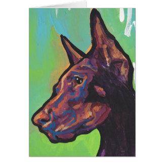 Cartes Art de bruit de chien de Pinscher de dobermann