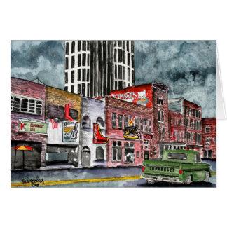 Cartes art de capital de musique country de Nashville