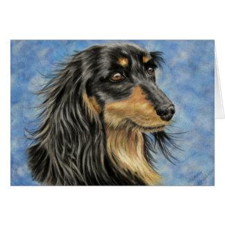 Cartes Art de chien - art aux cheveux longs Marcus de