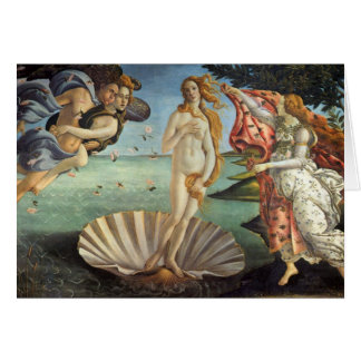 Cartes Art de Renaissance, la naissance de Vénus par