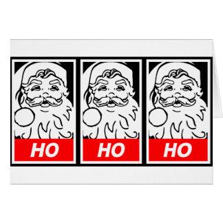 Cartes Art de rue de Père Noël : HO HO HO