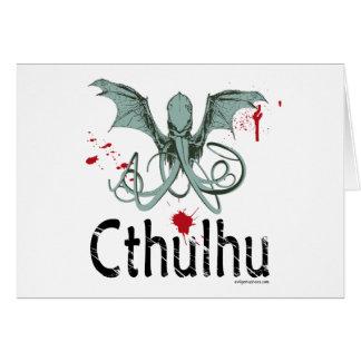 Cartes Art de vecteur d'horreur de Cthulhu