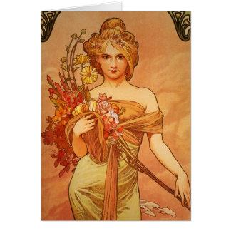 Cartes Art déco d'Alphonse Mucha