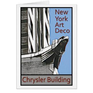 Cartes Art déco de New York - Chrysler construisant Eagle