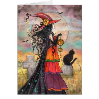 Cartes Art d'imaginaire de cimetière de chat noir de