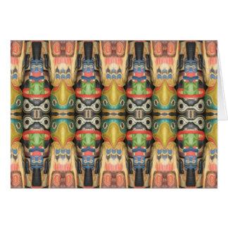Cartes Art du nord-ouest de totem