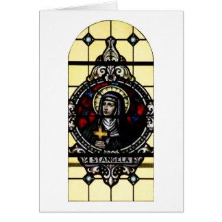Cartes Art en verre souillé d'Angela Merici de saint