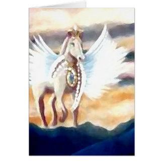 Cartes Art et conception à ailes de Pegasus CricketDiane
