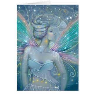 Cartes Art féerique d'imaginaire de nuit étoilée par