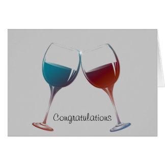 Cartes Art moderne en verre de vin