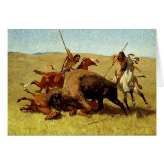 """Cartes Art occidental """"chasse de Frederic Remington de"""