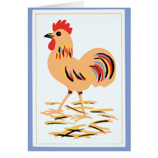 Cartes Art populaire vintage de coq
