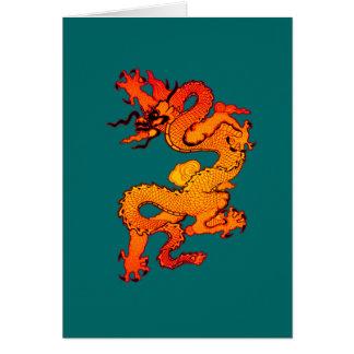 Cartes Art rouge et orange ardent de dragon
