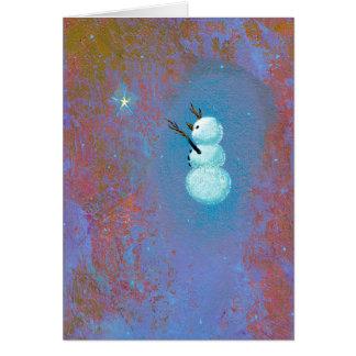 Cartes Art unique de Noël de vacances de croyance