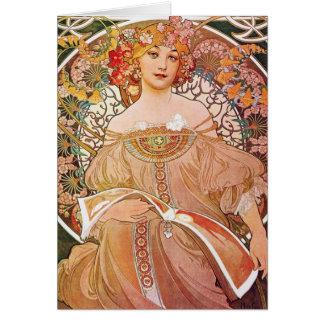 Cartes Art vintage d'Alphonse Maria Mucha