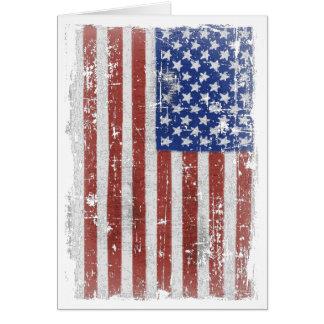 Cartes Art vintage de drapeau américain